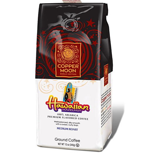 Copper Moon Hawaiian Hazelnut Whole Bean Medium Roast Coffee 12oz