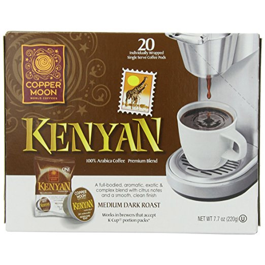 Copper Moon Kenyan Medium Dark Roast Single Cups Aroma Cups 20ct