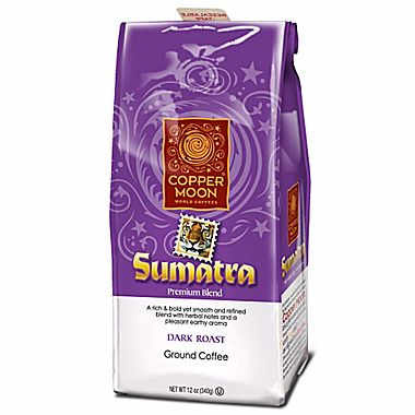 Copper Moon Sumatra Ground Dark Roast Coffee 12oz