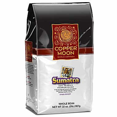 Copper Moon Sumatra Whole Bean Dark Roast Coffee 32oz