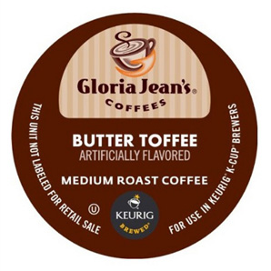 Gloria Jean's Butter Toffee Medium Roast K cups®  40ct