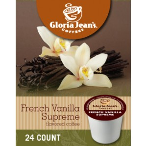 Gloria Jean's French Vanilla Medium Roast K cups® 24ct