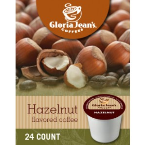 Gloria Jean's Hazelnut Medium Roast K cups®  24ct
