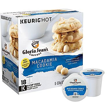 Gloria Jean's Macadamia Cookie Medium Roast K cups® 18ct