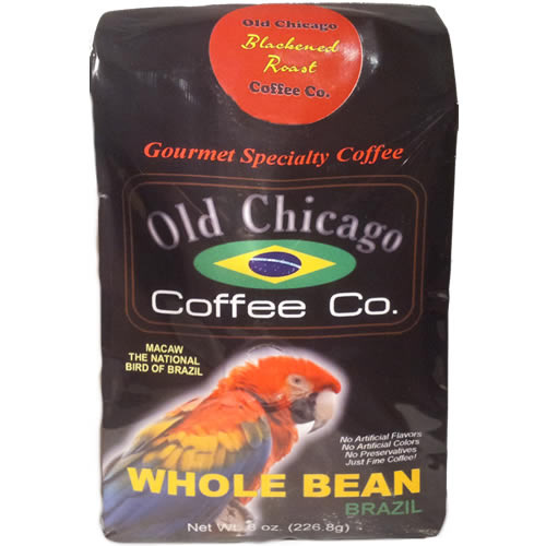 Old Chicago Coffee Brazil Whole Bean Dark Roast Coffee 8oz