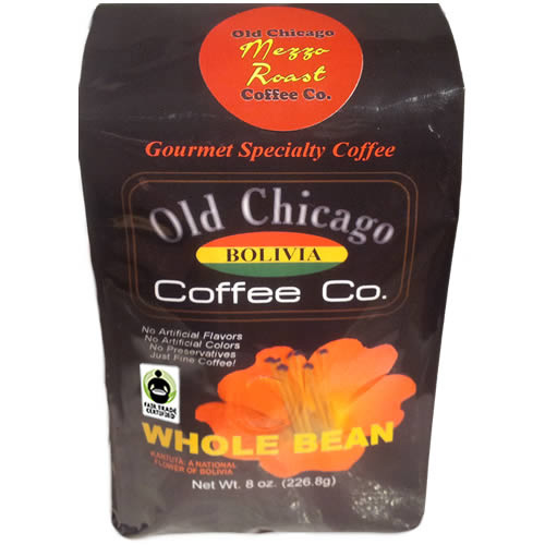 Old Chicago Coffee Fair Trade Bolivia Whole Bean Medium Roast Coffee 8oz