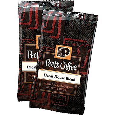 Peet's Coffee Decaf House Blend Ground Dark Roast Coffee Portion Packs 2.5oz 18 Packs