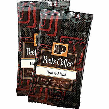 Peet's Coffee House Blend Ground Dark Roast Coffee Portion Packs 2.5oz 18 Packs
