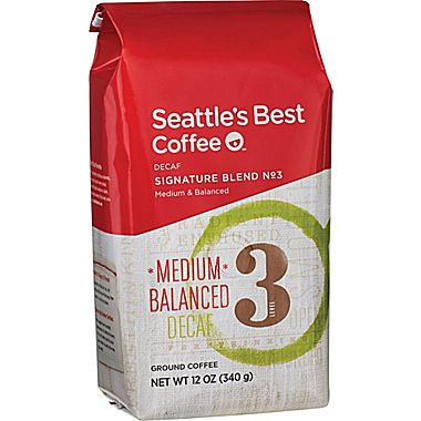 Seattle's Best Decaf Level 3 Ground Medium Roast Coffee 12oz