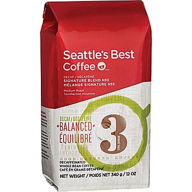 Seattle's Best Decaf Level 3 Whole Bean Medium Roast Coffee 12oz