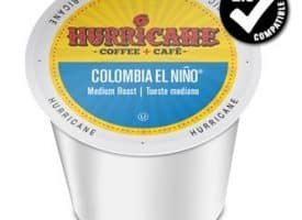 Hurricane Coffee Colombia El Nino Medium Roast K cups®  24ct