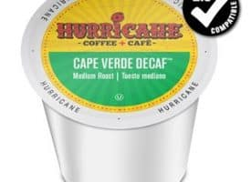 Hurricane Coffee Decaf Cape Verde Medium Roast K cups®  24ct