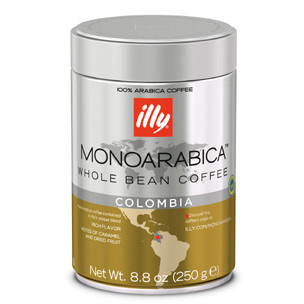 Illy's Monoarabica Colombia Whole Bean Medium Roast Coffee 8.8oz