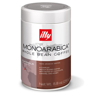 Illy's Monoarabica Guatemala Whole Bean Medium Roast Coffee 8.8oz