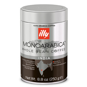 Illy's Monoarabica India Whole Bean Dark Roast Coffee 8.8oz