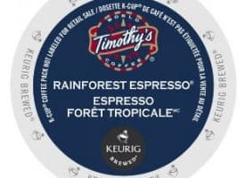 Timothy's Rainforest Espresso Dark Roast K cups®  24ct