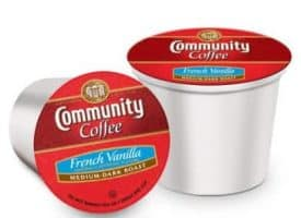 Community Coffee French Vanilla Medium Dark Roast K cups®  12ct