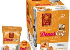 Copper Moon Donut Cafe Medium Roast Single Cups Aroma Cups 20ct