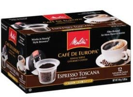 Melitta Coffee Espresso Toscana Extra Dark Roast K cups®  12ct