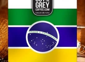 Out of the Grey Coffee Brazil Daterra Bourbon Whole Bean Medium Dark Roast Coffee 12oz