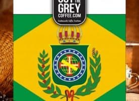 Out of the Grey Coffee Brazil Daterra Sweet Yellow Whole Bean Medium Dark Roast Coffee 12oz