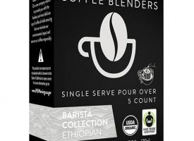 Coffee Blenders Organic Ethiopian Single Serve Pour Over 5ct