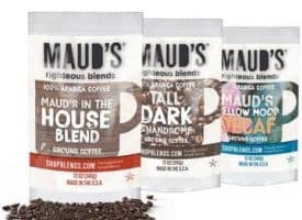Maud's Righteous Blends Variety Ground Medium, Dark, Decaf Roast Coffee 36oz