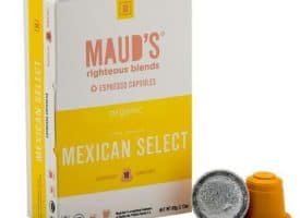 Maud's Righteous Blends Organic Mexican Select Espresso Dark Roast Capsules 20ct
