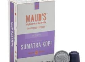 Maud's Righteous Blends Organic Sumatra Espresso Dark Roast Capsules 20ct