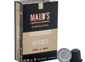 Maud's Righteous Blends Organic Intenso Espresso Dark Roast Capsules 20ct