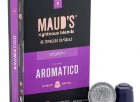 Maud's Righteous Blends Organic Aromatico Espresso Dark Roast Capsules 20ct