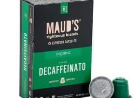 Maud's Righteous Blends Organic Decaf Espresso Dark Roast Capsules 20ct
