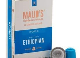 Maud's Righteous Blends Organic Ethiopian Espresso Dark Roast Capsules 20ct