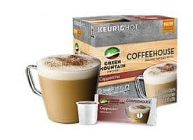 Green Mountain Coffeehouse Cappuccino Medium Roast K cups®  9ct