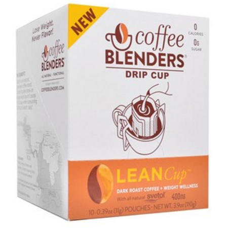 Coffee Blenders Lean Drip Cup Pour Over Dark Roast Coffee With Green Coffee Bean Extract
