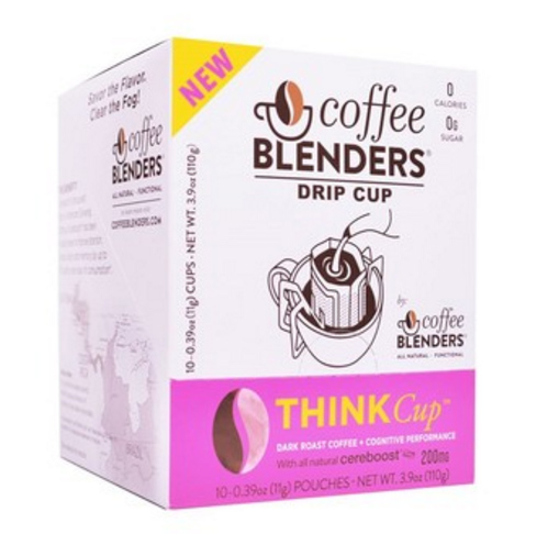 Coffee Blenders Think Drip Cup Pour Over Dark Roast Coffee with American Ginseng 10ct