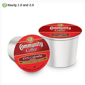 Community Coffee Colombia Altura Medium Dark Roast K cups® 12ct