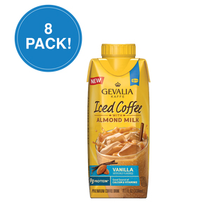Gevalia Vanilla Iced Coffee with Almond Milk 11.1oz 8 Pack