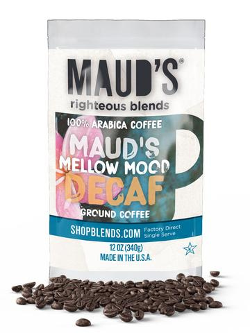Maud's Righteous Blends Decaf Mellow Mood Ground Medium Roast Coffee 36oz