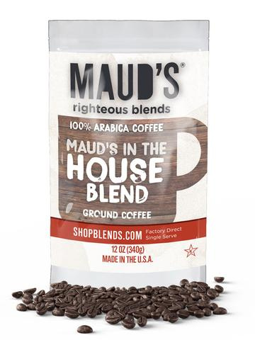 Maud's Righteous Blends In the House Blend Ground Medium Roast Coffee 36oz