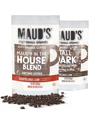 Maud's Righteous Blends Variety Ground Medium and Dark Roast Coffee 48oz