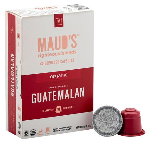 Maud's Righteous Blends Guatemalan Espresso Dark Roast Capsules 20ct