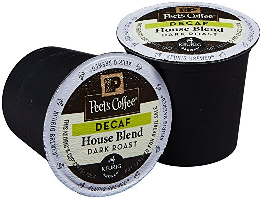 Peet's Coffee Decaf House Blend Dark Roast K cups®  40ct