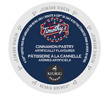 Timothy's Cinnamon Pastry Medium Roast K cups®  24ct