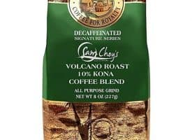 Royal Kona Decaf Sam Choy Whole Bean Medium Dark Roast Coffee 8oz