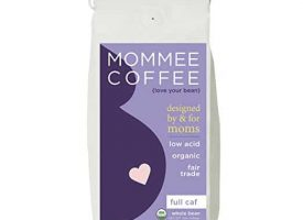 Mommee Coffee Full Caff Organic Whole Bean Medium Roast Coffee 12oz