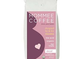Mommee Coffee Decaf Organic Ground Dark Roast Coffee 12oz