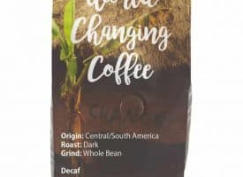 Three Avocados Decaf Central America Whole Bean Dark Roast Coffee 12oz