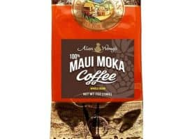 Royal Hawaiian Maui Moka Whole Bean Medium Roast Coffee 7oz