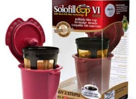 Solofill V1 Gold for Use with Keurig Vue Brewers - Senseo Adapter